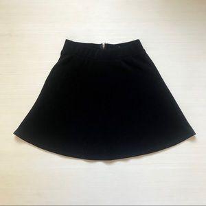 B Jewel High Waist Trendy Zipper Black Skirt SMALL